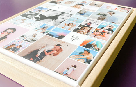 canvas photo collage floating frame