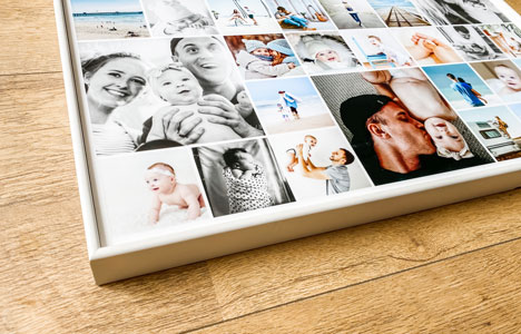 frame your aluminium and acrylic photo collages