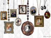 Photo collage Classic Necklaces