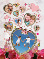 Photo collage Love birds