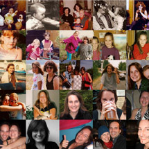 Life overview photo collage
