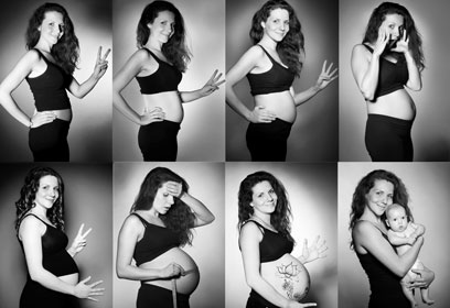 Welp Pregnancy photo collage | EasyCollage HB-17
