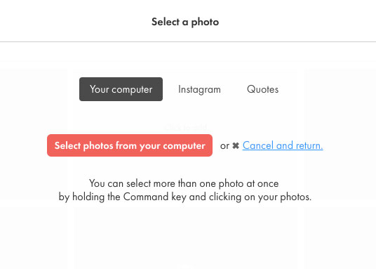 How to upload your photos